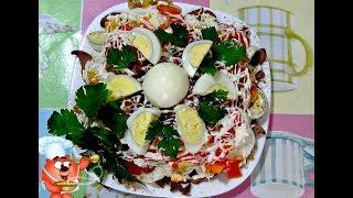 Рецепт салата с куриной печенью, перцем, помидорами и яйцами