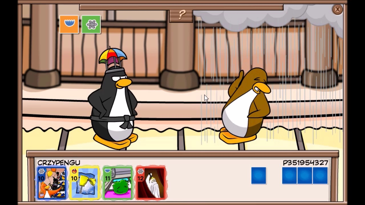 como jugar card jitsu en free penguin
