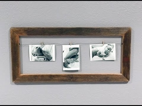 How To Make A Simple Barn Wood Picture Frame Display | DIY ...