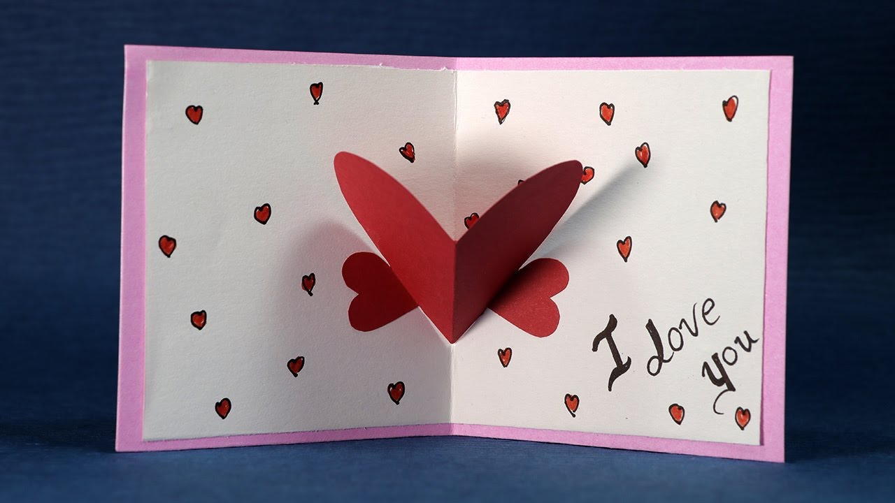 Delightful Card Making Ideas For Valentines Day Part - 3: Happy Valentineu0027s Day Card - DIY Valentine Card Making Tutorial - YouTube
