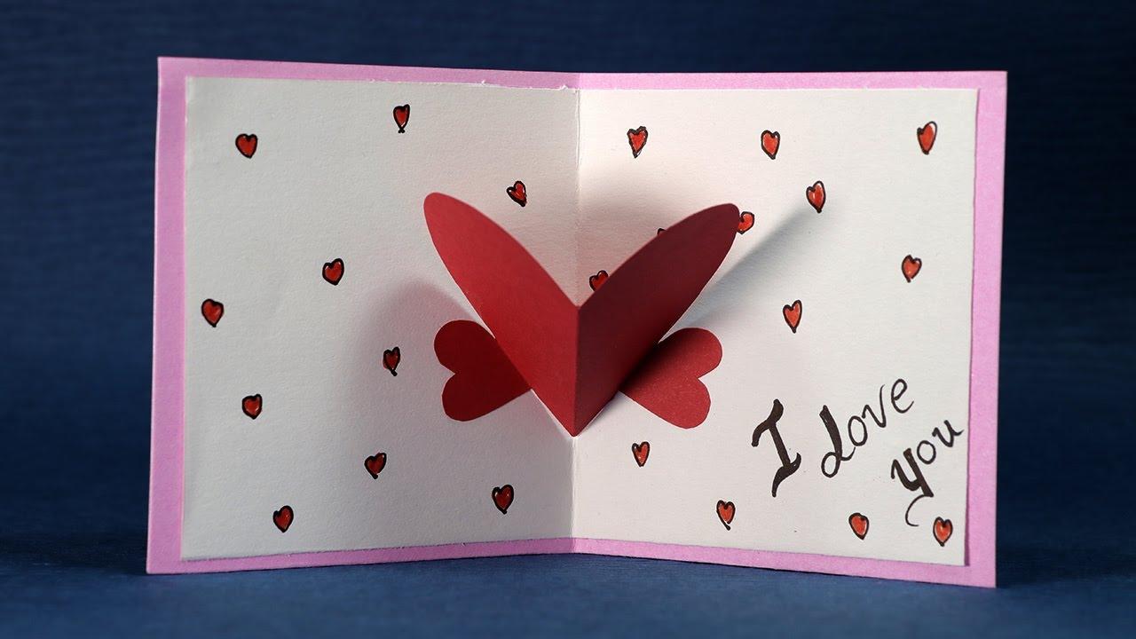Happy Valentine's Day Card - Diy Valentine Card Making Tutorial - Youtube