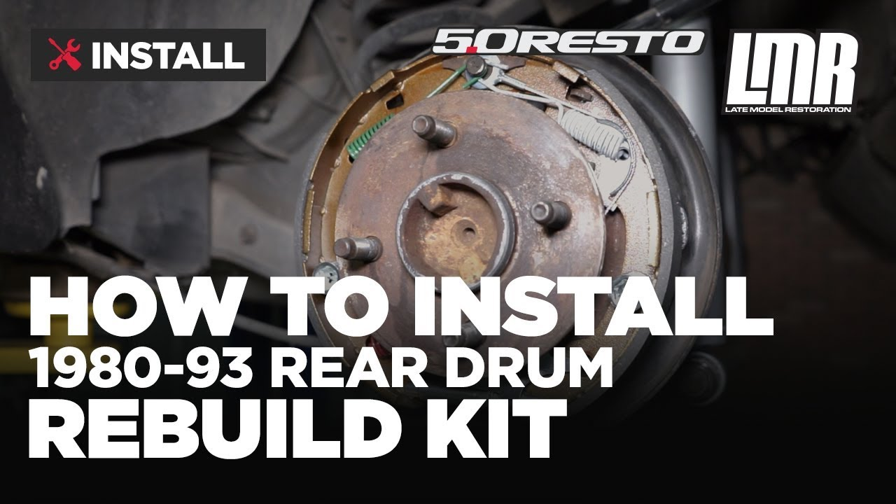 1980 1993 mustang 5 0 resto rear drum brake rebuild kit install review [ 1280 x 720 Pixel ]