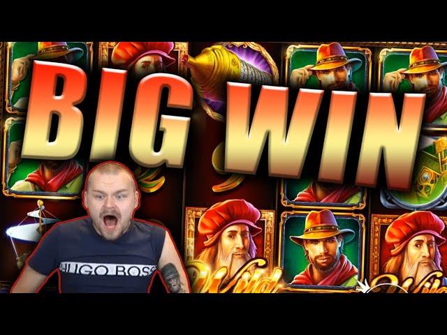 BIG WIN on DA VINCI'S TREASURE Slot