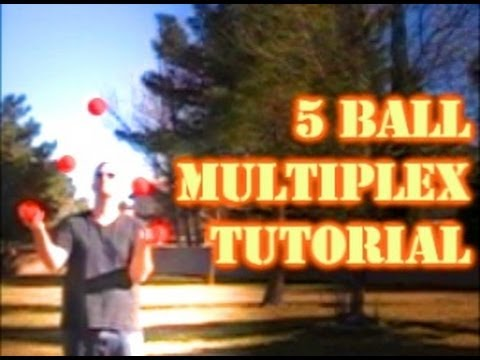 How To Juggle Basic 5 Ball Multiplex Tricks : Juggling Tutorial by JugglingTricks