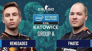CS:GO - Renegades vs. Fnatic [Dust2] Map 1 - Group A - IEM Katowice 2020