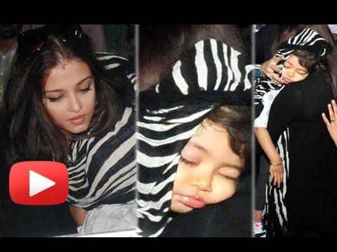 Aishwarya Rai Protects Baby Aaradhya At Chandigarh Airport - Catch Aardhaya Bachchan Sleeping