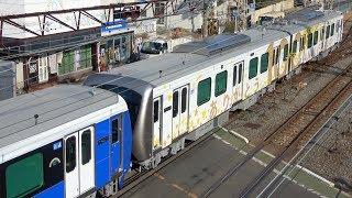 静岡鉄道A3000形A3005F(エレガントブルー)+A3006F(創立100周年記念ラッピング車両)甲種輸送