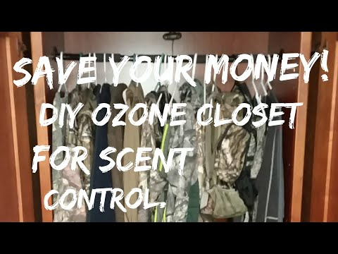 Scent Control For Deer Hunting. Ozone Generator For Hunting Gear.