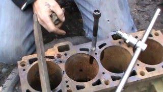 Эксперимент! Может раздавить блок двигателя масло в резьбе?