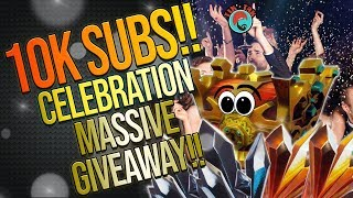FORTNITE| WE HIT 10k SUBS!! | OFFICIAL CELEBRATION AND MASSIVE GIVEAWAY | THANKS GUYS!!!