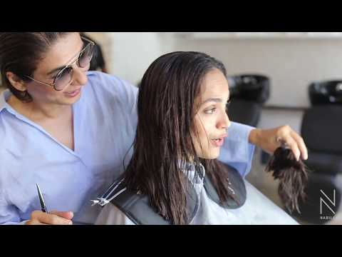 #AaminaSheikh's fabulous hair transformation by #NABILA