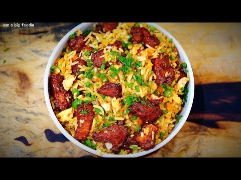 Spicy Chicken Fried Rice Indian Style.!