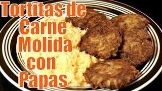 Tortitas De Carne Molida, Con Papas   Casayfamiliatv