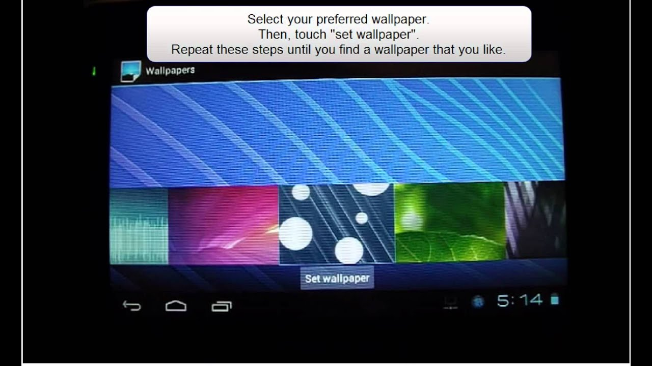 change your android 4 0 tablet wallpaper