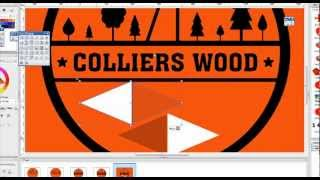 'colliers Wood'-  London Colliery - New Logo, Graphic Design Project