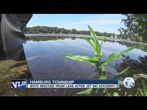 Boys rescued from lake following jet ski accident