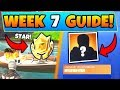 Fortnite WEEK 7 CHALLENGES GUIDE! - Secret Star, HUNTING PARTY WEEK! (Battle Royale Season 6)