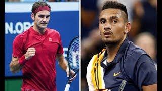 Federer Kyrgios Us open 2018 highlights(TWT)