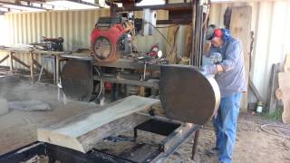 Woodsignsbydesign.com  Halford Ranch Sign Sawmill Slab Milling