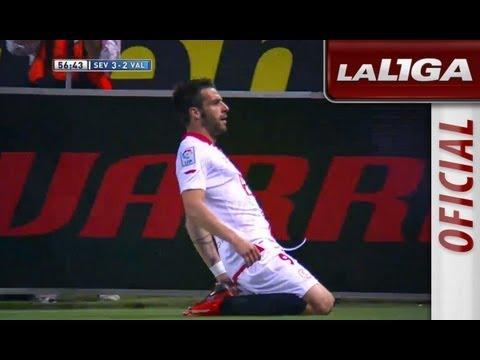 Gol de Álvaro Negredo (3-2) en el Sevilla FC - Valencia CF - HD