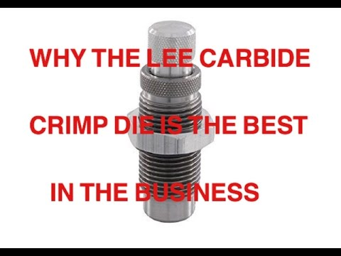 CRIMPING PISTOL ROUNDS  ( WHY LEE CARBIDE FACTORY CRIMP DIE IS THE BEST IN THE BUSINESS)