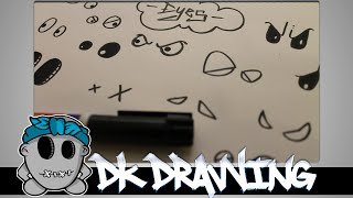 Graffiti Character Tutorial  for beginners - How to draw diffrent eyes