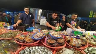 老闆第一次破天荒鱈魚只賣50 讓小家庭可以試試味道 嘉義趙又廷 海鮮拍賣 斗南夜市20191201EP7 Video