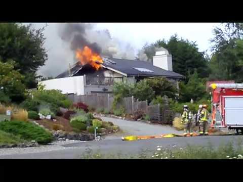 Sequim Fire on August 15, 2009