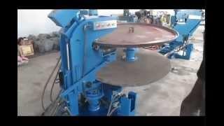Elliptical tank head making machine  flanging machine