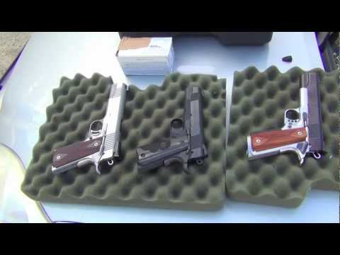 Top 1911s  Les Baer, Colt Gold Cup, New Colt Commander and Kimber Gold Match.