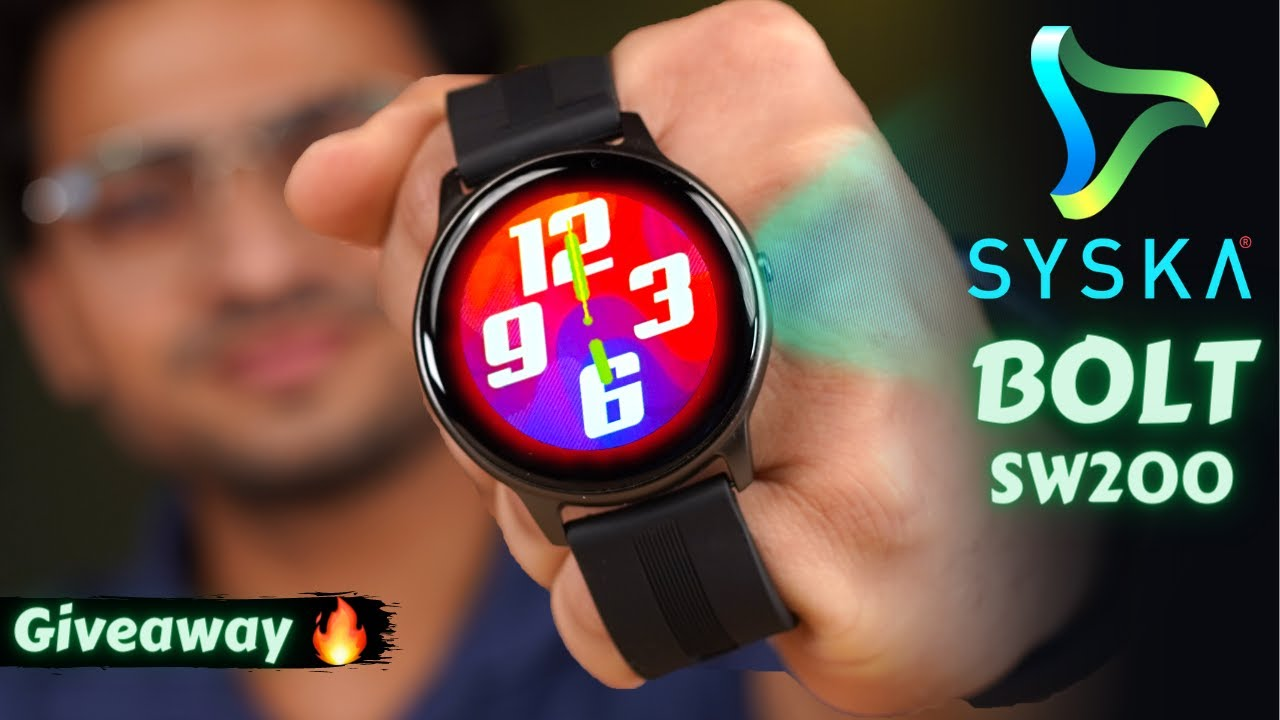 Syska BOLT SW200 Smartwatch Unboxing ⚡️| Budget SmartWatch At Just Rs 2,499/- 🔥| Giveaway 🤩