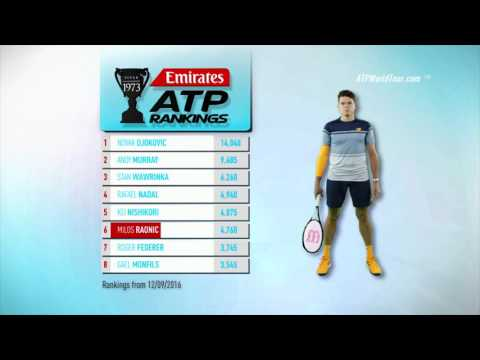 Emirates ATP Rankings 13 September 2016