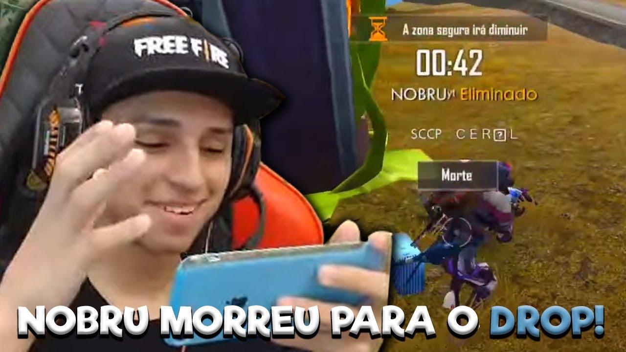 NOBRU MORREU PARA O DROP AO VIVO!! TENTE NÃO RIR!! - FREE FIRE
