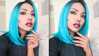 Halloween Comic/Pop Art Makeup Tutorial