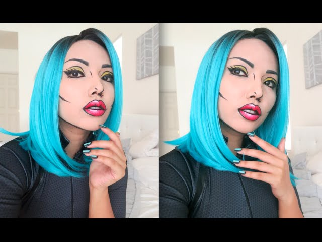 Cartoon pop art | halloween | how to makeup tutorial youtube.