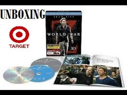 World War Z 3D Target Exclusive Unboxing (Bluray/DVD) 48-Page Book