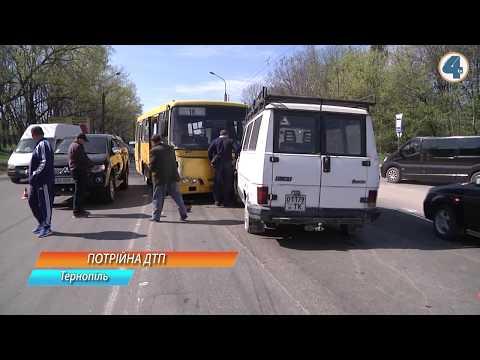 TV-4: Потрійна ДТП за участі маршрутки, автомобіля та мікроавтобуса трапилась на вулиці 15 Квітня