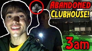 EXPLORING OUR ABANDONED CLUBHOUSE AT 3AM!! (Haunted)