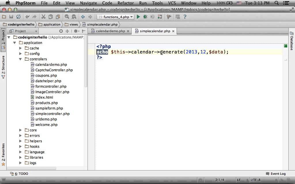 Codeigniter Calendar Youtube