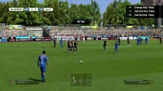 FIFA 14 Juninho free kick from 40 yards