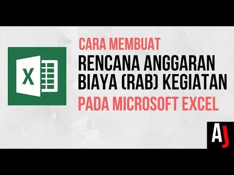 Cara Membuat RAB Kegiatan pada Excel