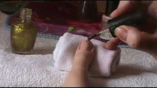 Рисунок на ногтях №26. Веточка иголкой(Пошаговый видео урок по рисованию на ногтях иголкой. Как нарисовать на ногтях веточку в коричневых тонах...., 2014-10-16T21:28:43.000Z)