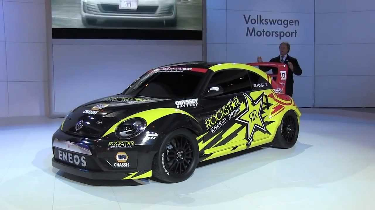 VW GRC Beetle con Tanner Foust y Scott Speed Autoshow Chicago 2014 - YouTube