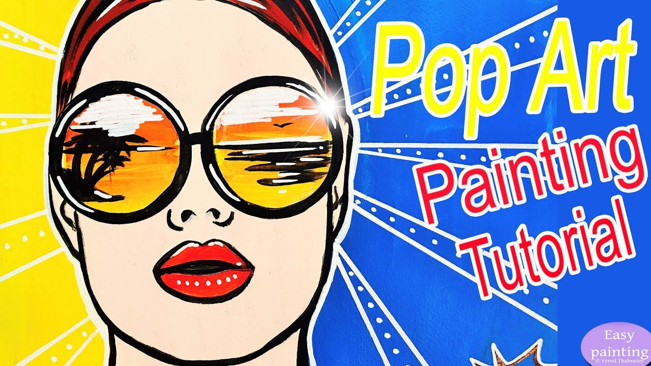 how to draw pop art girl