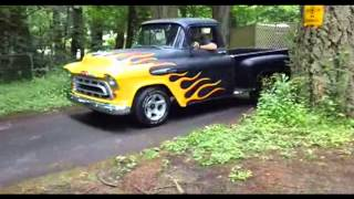 Classic Truck Rescue 57 Chevy Truck Burnouts