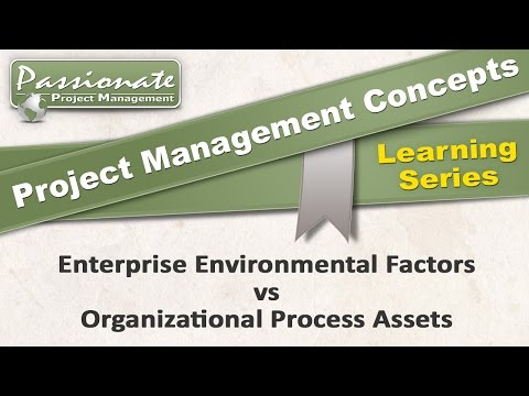 Project Management Concept #12: Enterprise Environmental Factors v Organizational Process Assets