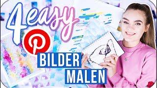 4 EASY BILDER die JEDER malen kann - Pinterest Inspired DIY // I'mJette