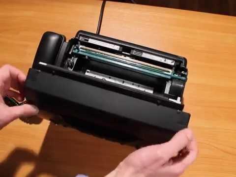 Как вставлять бумагу в факс