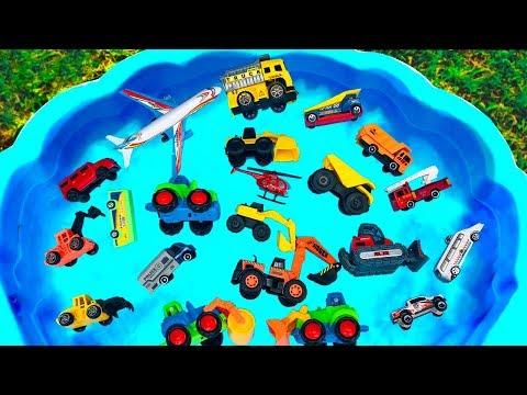 Carritos para niños con Arena y Agua | Toys Cars on the Sand with Water | Camiones de Construcción