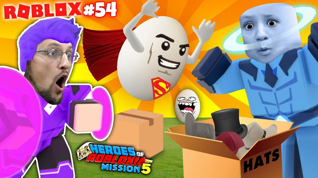 Egg Super Heroes Of Robloxia Unboxia Fgteev Roblox 54 Youtube